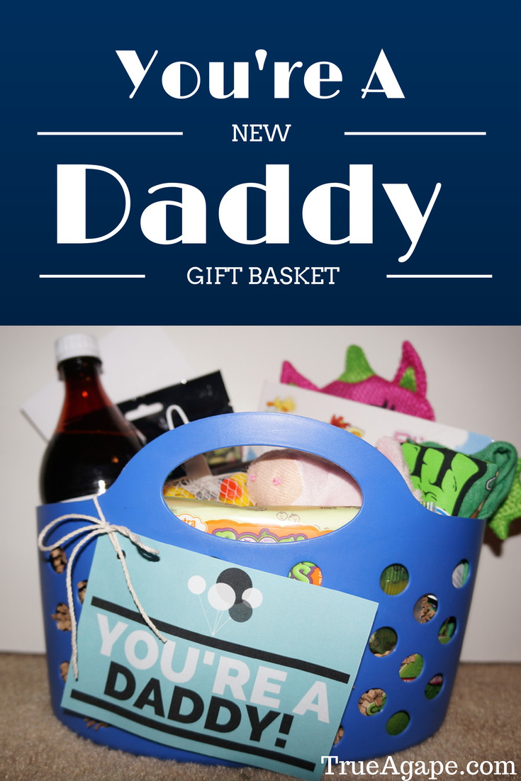 Baby Shower Gift Ideas For Mom And Dad  You re A New Daddy Gift Basket For New Dads