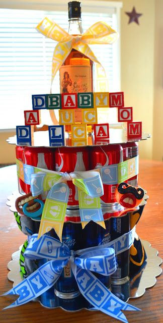 Baby Shower Gift Ideas For Mom And Dad  Daddy cake co ed baby shower idea for the dad