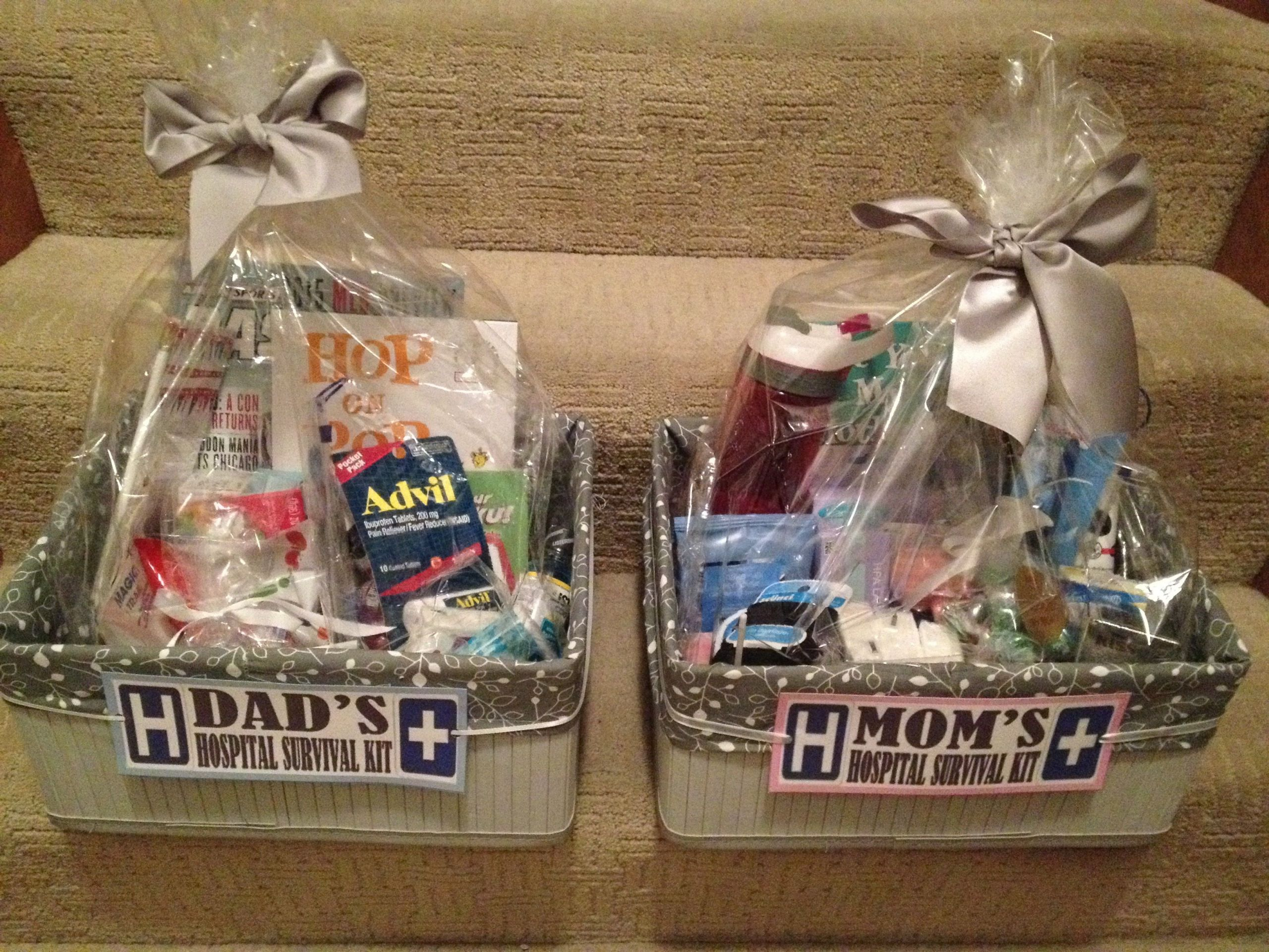 """Baby Shower Gift Ideas For Mom And Dad  Mom and Dad """"to be"""" hospital survival kits in 2019"""