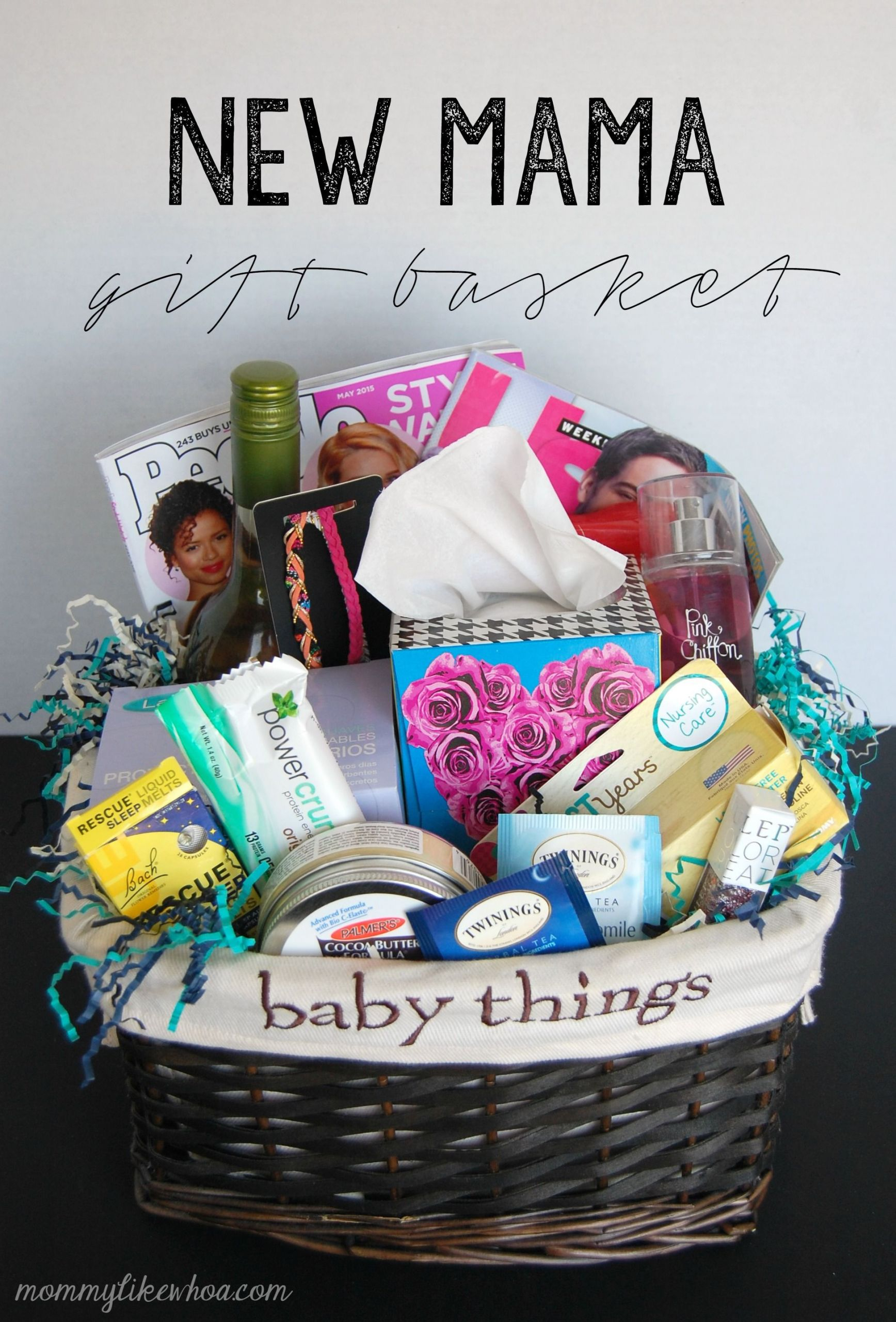 Baby Shower Gift Ideas For Mom And Dad  New Mama Gift Basket Mommy Like Whoa in 2020