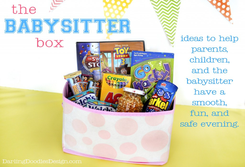 Babysitter Gift Ideas  The Babysitter Box Darling Doodles