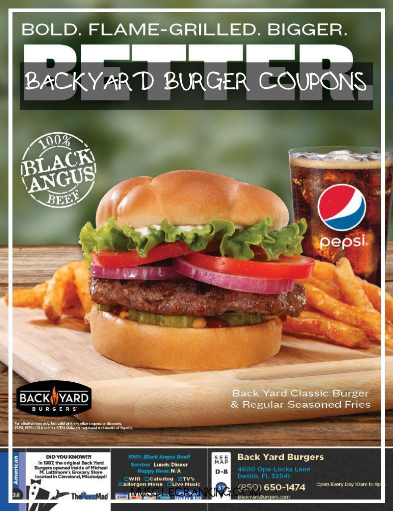 Backyard Burgers Destin  Backyard Burger Coupons 2021 musclecranking