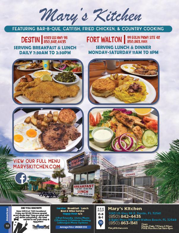 Backyard Burgers Destin  Mary s Kitchen Fort Walton Beach Destin Fort Walton
