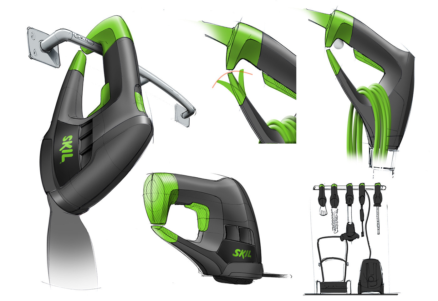 Backyard Design Tools  Electric garden tools for Skil on Behance