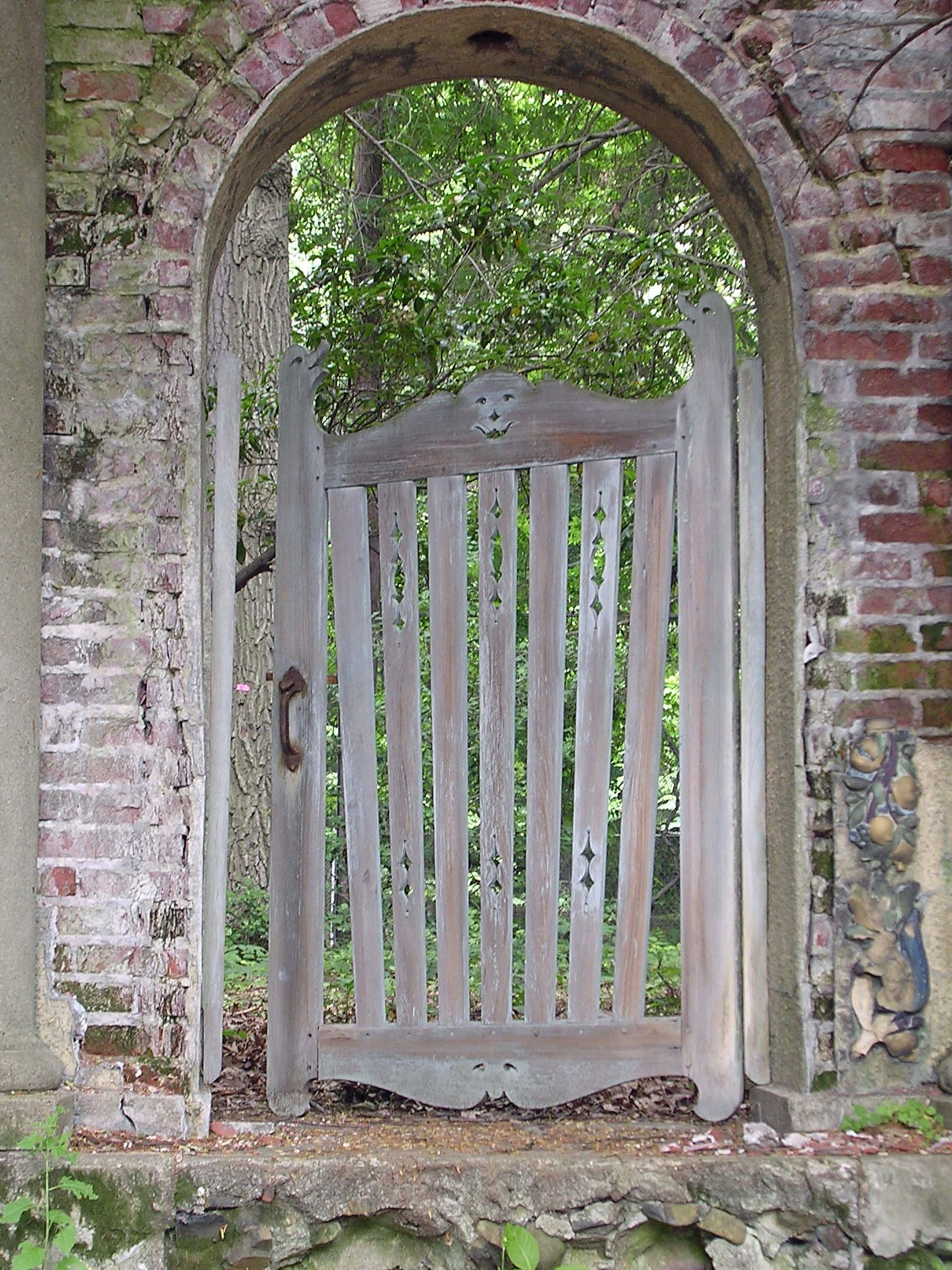 Backyard Fence Door  Garden Design Details Rustic Wood Gates – Susan Cohan Gardens