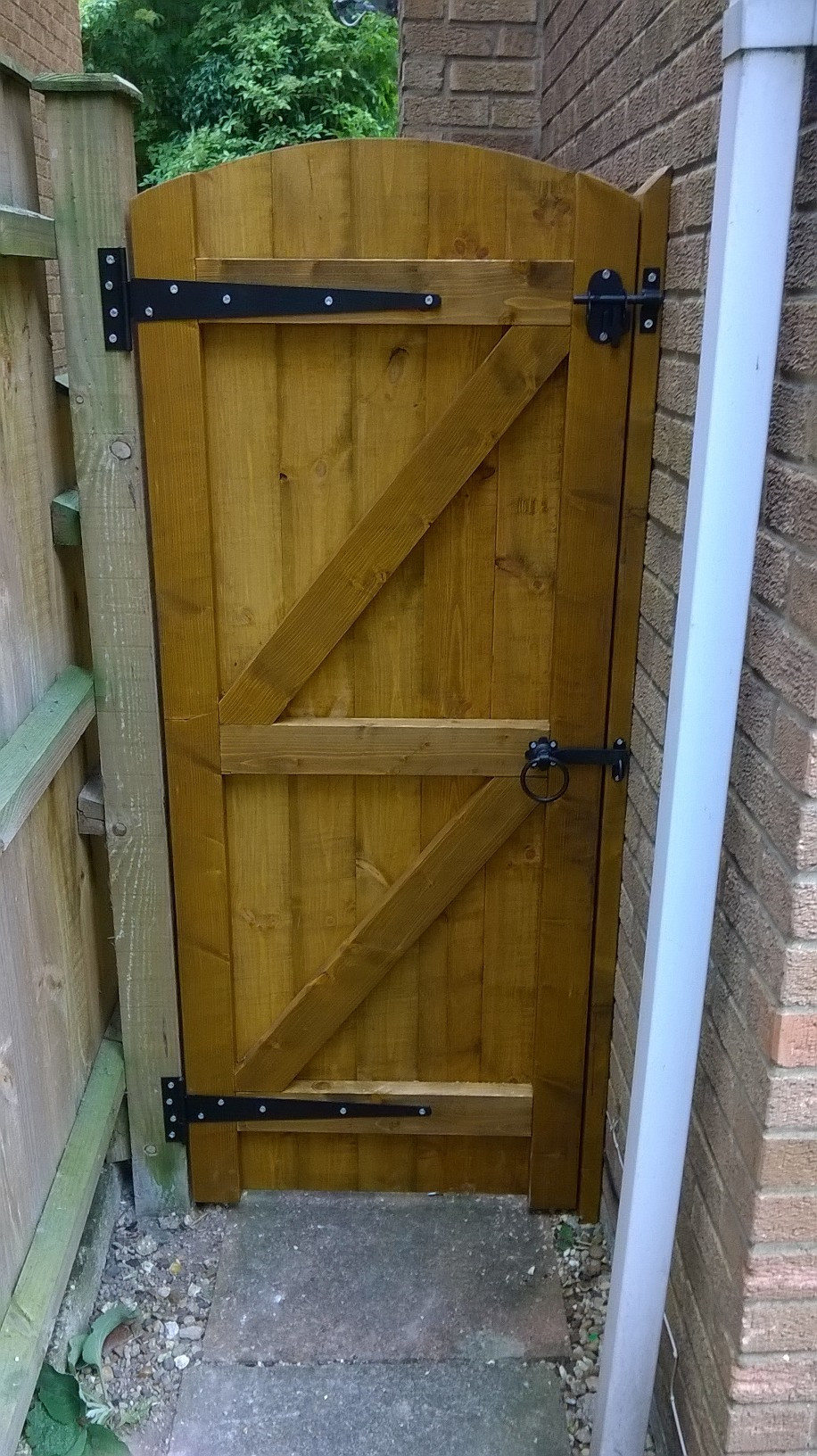 Backyard Fence Door  Wooden Garden Gates 800mm Full E Timber Products