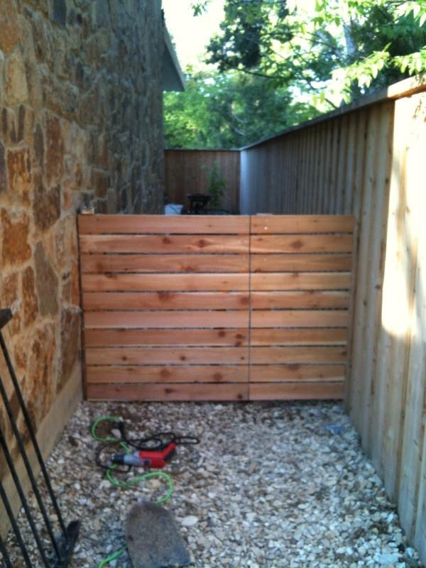 Backyard Fence Door  The Urban Dirt Farmer Modern Fence Gate
