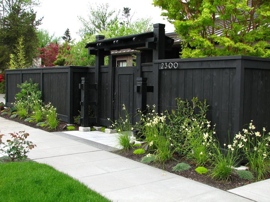Backyard Fence Door  Front Yard Fence Ideas Landscaping Network