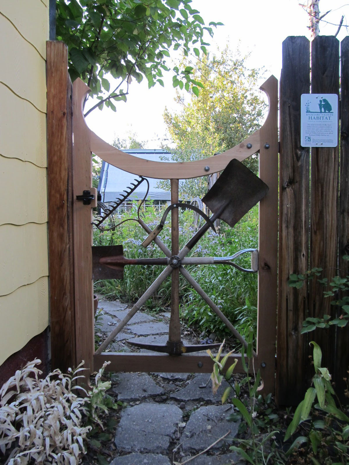 Backyard Fence Door  Garden Gates Backyard Decorating Ideas