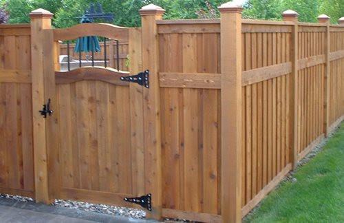 Backyard Fence Door  Garden Gate Ideas Wrought Iron Wooden & Vinyl