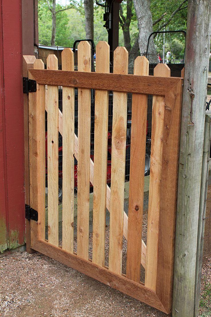 Backyard Fence Door  Charming Yard and Garden Gates