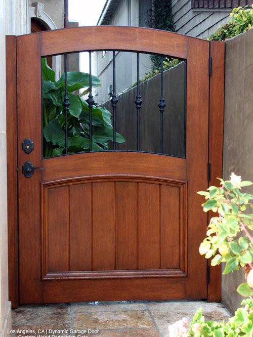Backyard Fence Door  Wooden Garden Gates