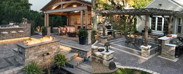 Backyard Patio Paver Design Ideas  Top 60 Best Paver Patio Ideas Backyard Dreamscape Designs