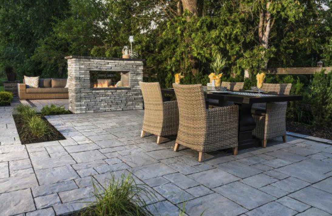Backyard Patio Paver Design Ideas  Patio Design Ideas Using Concrete Pavers for Big Backyard