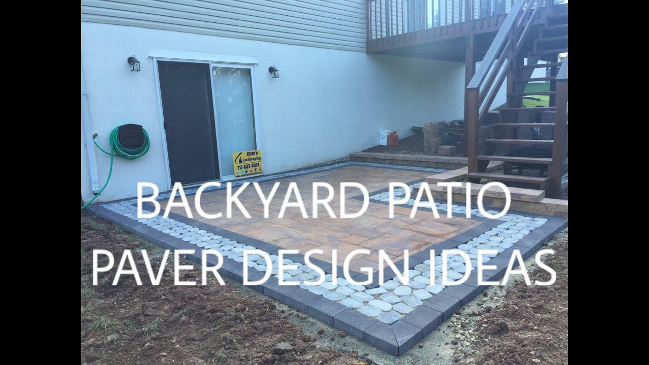 Backyard Patio Paver Design Ideas  Walkout basement backyard patio paver design ideas Ryan