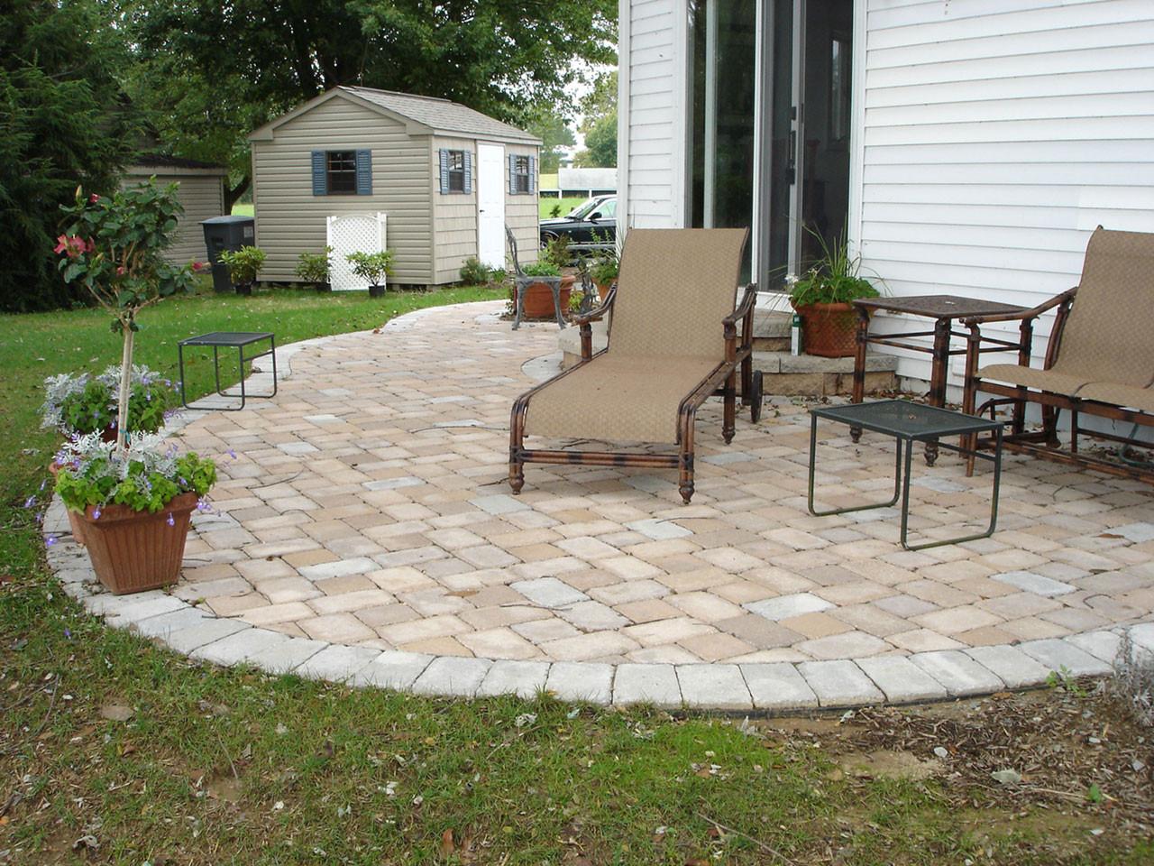 Backyard Patio Paver Design Ideas  Paver Patio Ideas for Enchanting Backyard Amaza Design