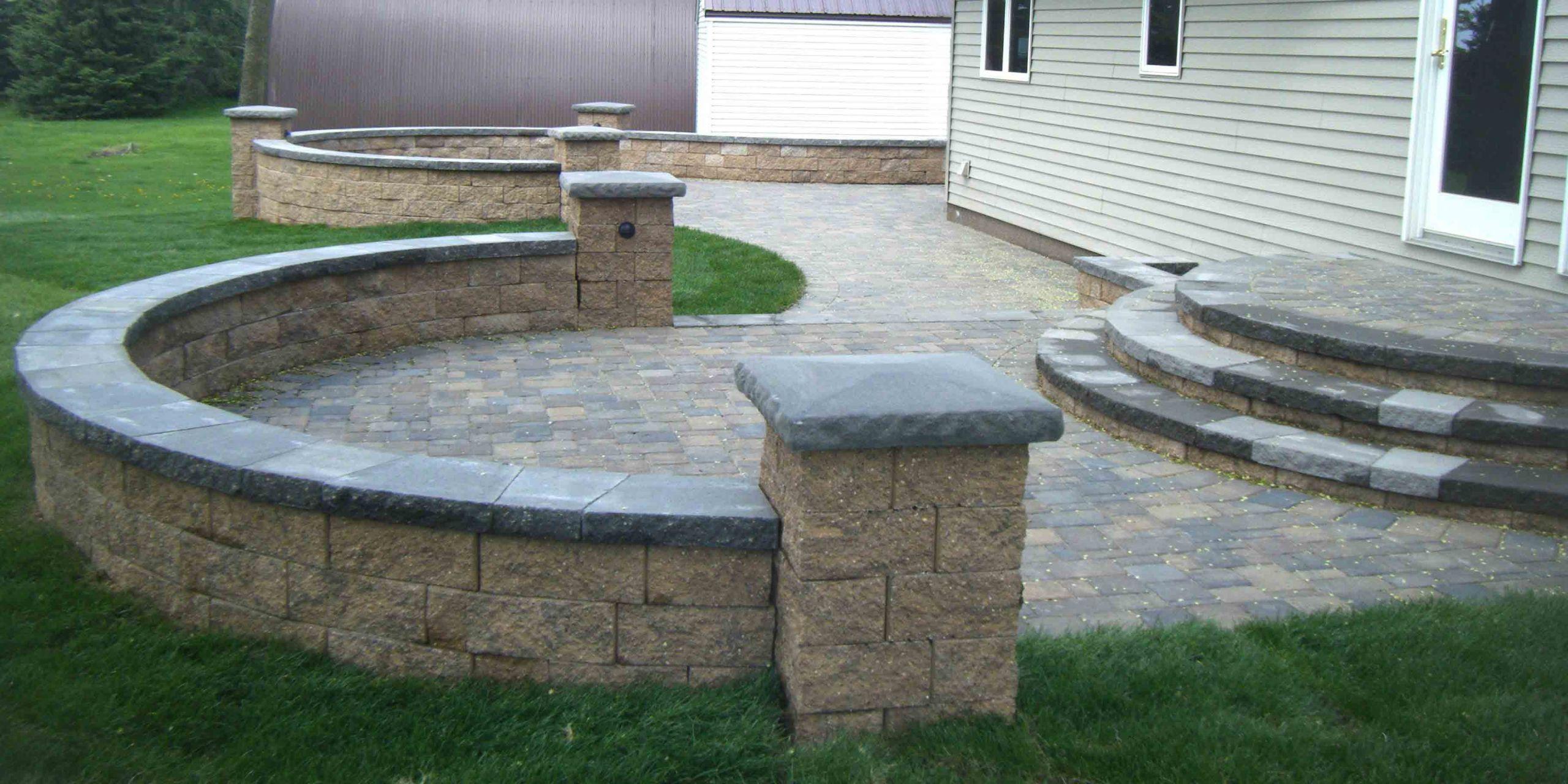 Backyard Patio Paver Design Ideas  paver patio steps – Leading Edge Landscapes