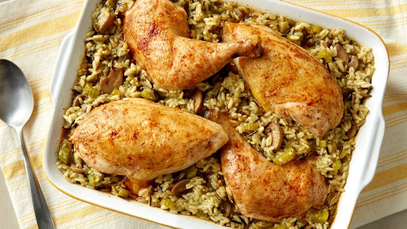 Baked Chicken And Rice Recipe  Chicken and Rice Bake Recipe Pillsbury