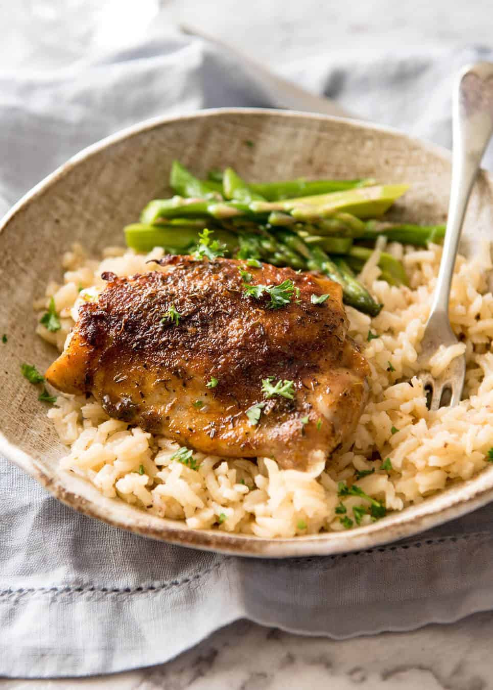 Baked Chicken And Rice Recipe  Oven Baked Chicken and Rice No Stove