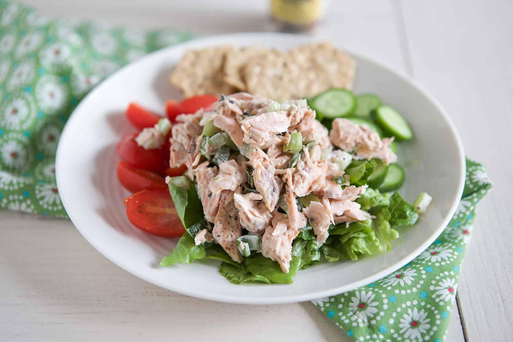Baked Salmon Salad Recipe  Fresh Salmon Salad Recipe Aggie s Kitchen