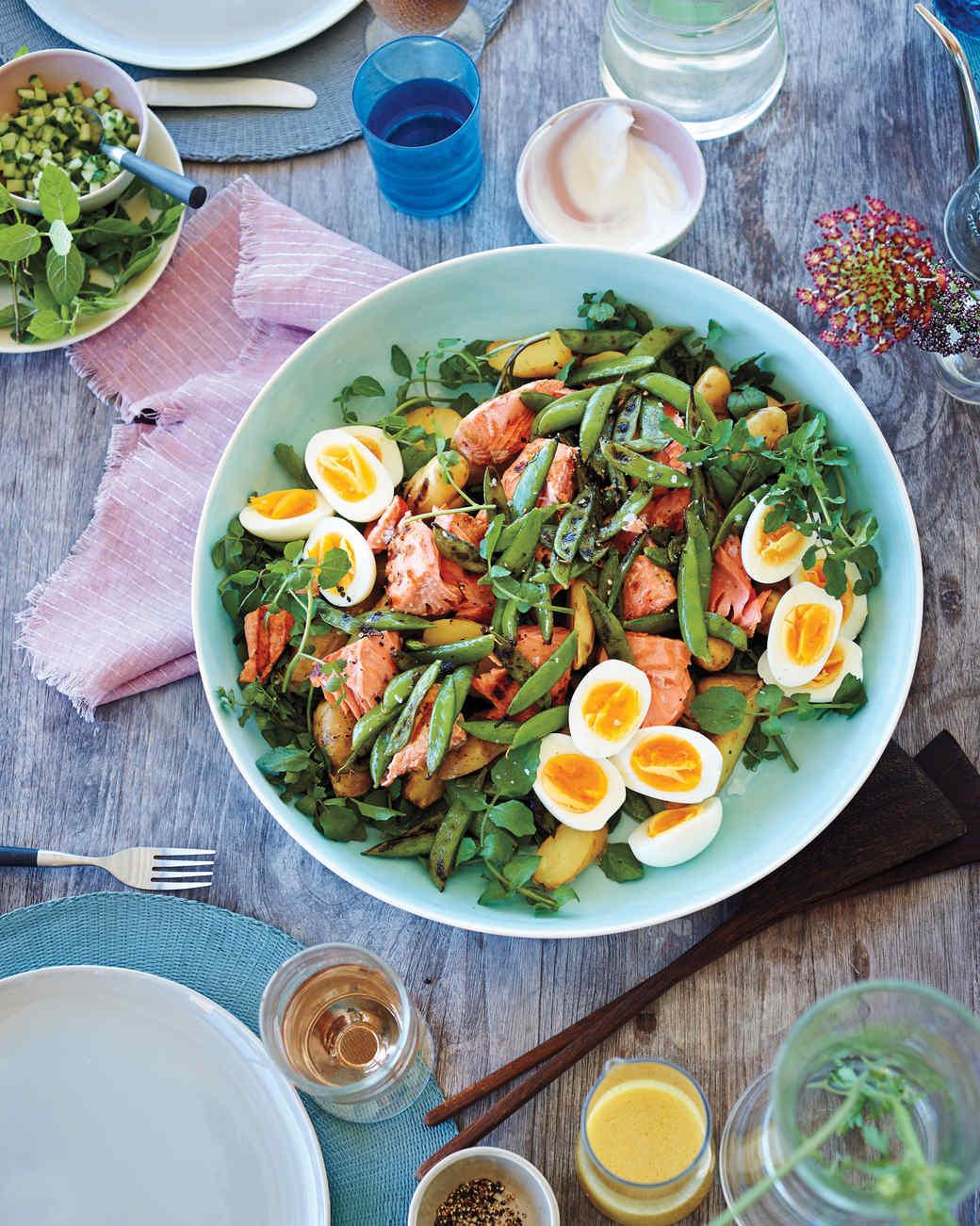 Baked Salmon Salad Recipe  Grilled Salmon Salad Recipe