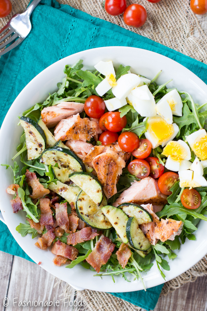 Baked Salmon Salad Recipe  Grilled Salmon Cobb Salad