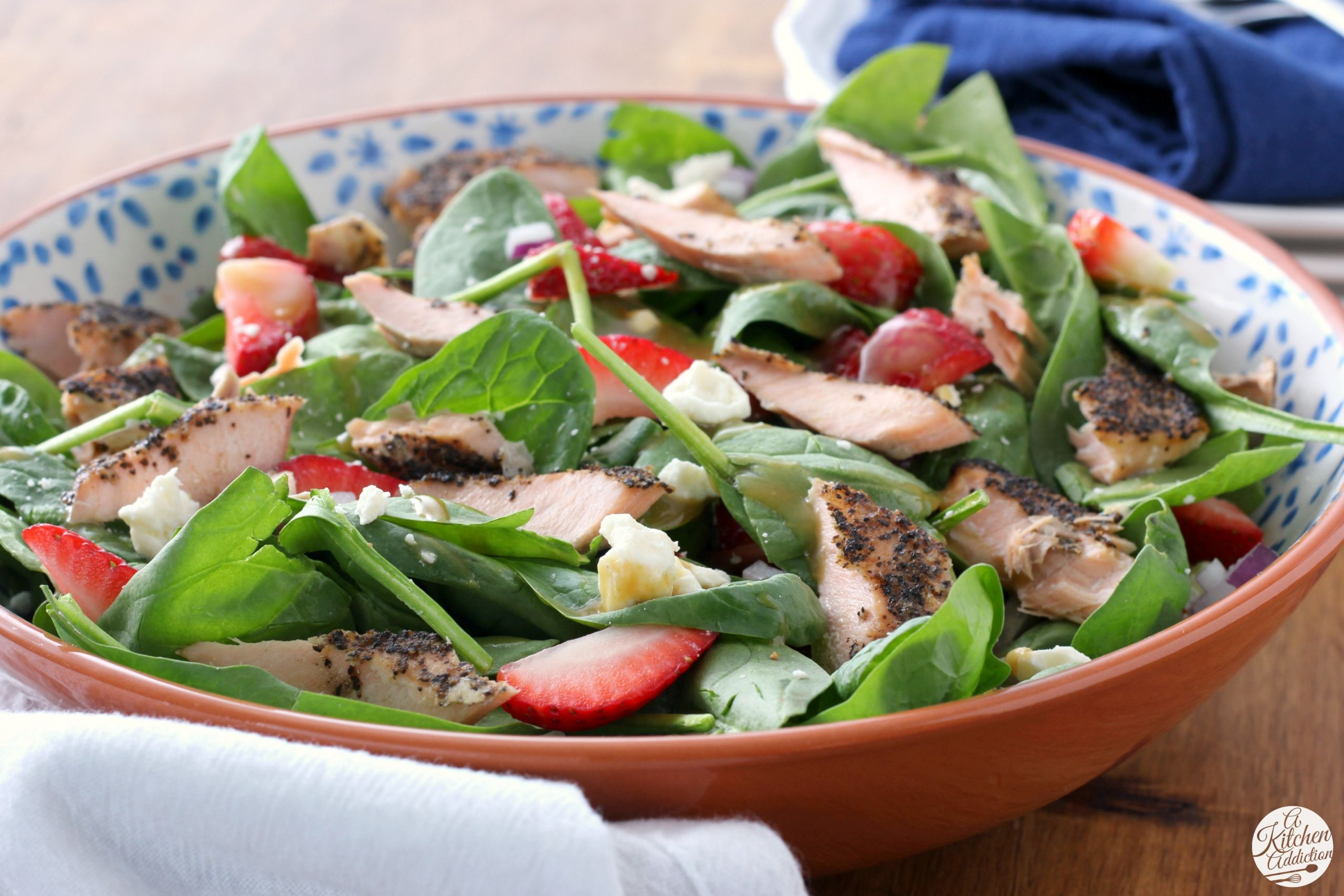 Baked Salmon Salad Recipe  Baked Salmon Strawberry Spinach Salad A Kitchen Addiction