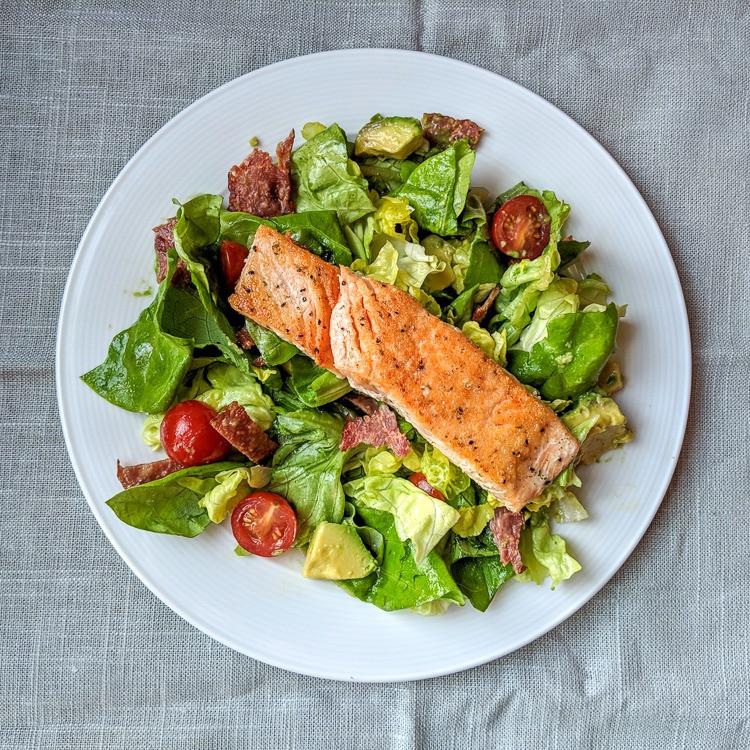 Baked Salmon Salad Recipe  Simple Salmon Salad Recipe