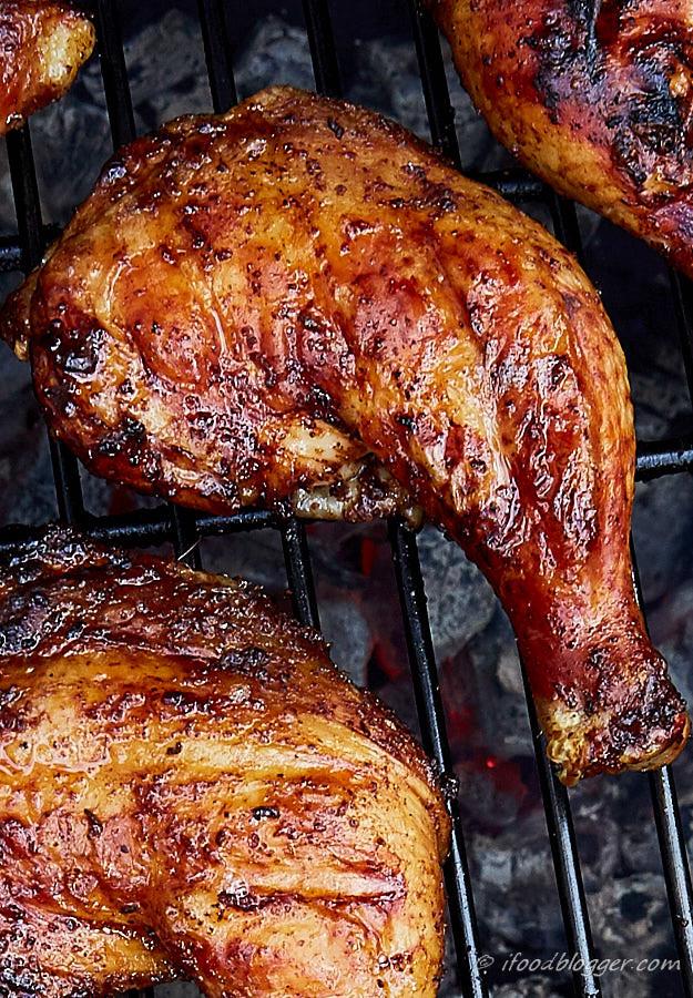 Barbecue Chicken Legs  Kickin Grilled Chicken Legs i FOOD Blogger