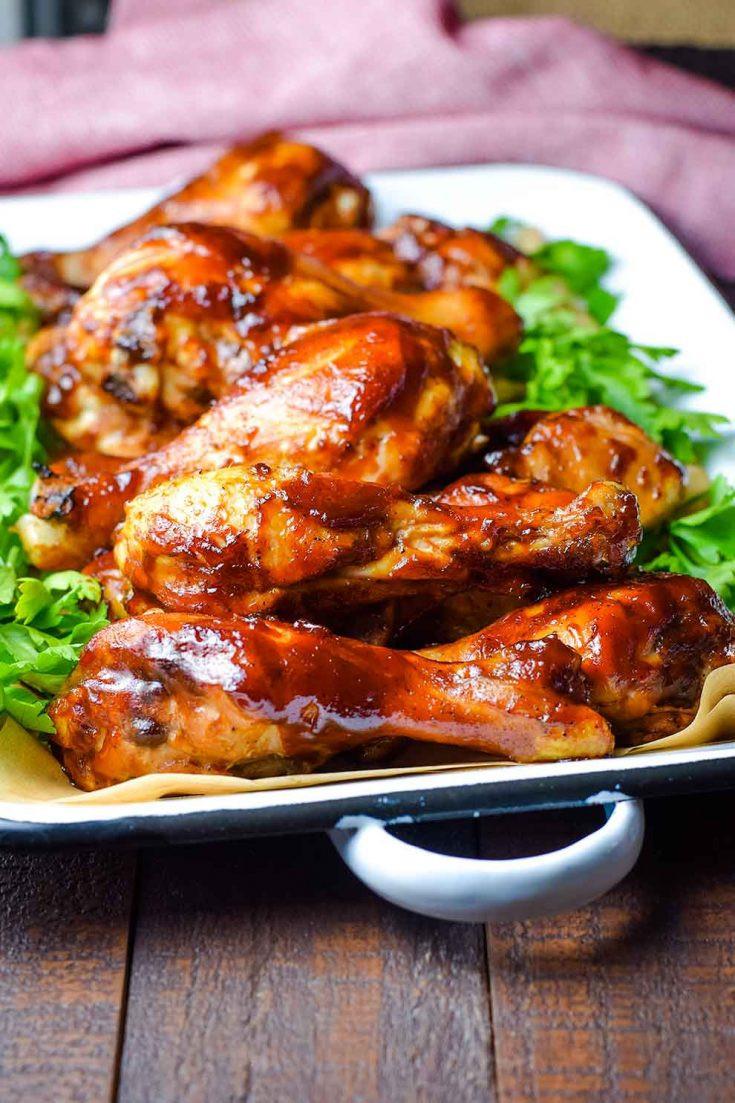 Barbecue Chicken Legs  Oven Baked BBQ Chicken Drumsticks