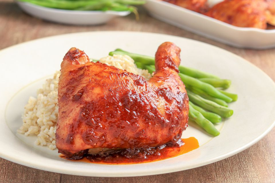 Barbecue Chicken Legs  2 Ingre nt Crock Pot Barbecued Chicken Legs Recipe