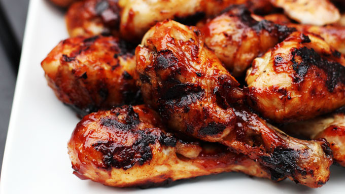 Barbecue Chicken Legs  Grilled Barbecued Chicken Legs Kitchen Explorers