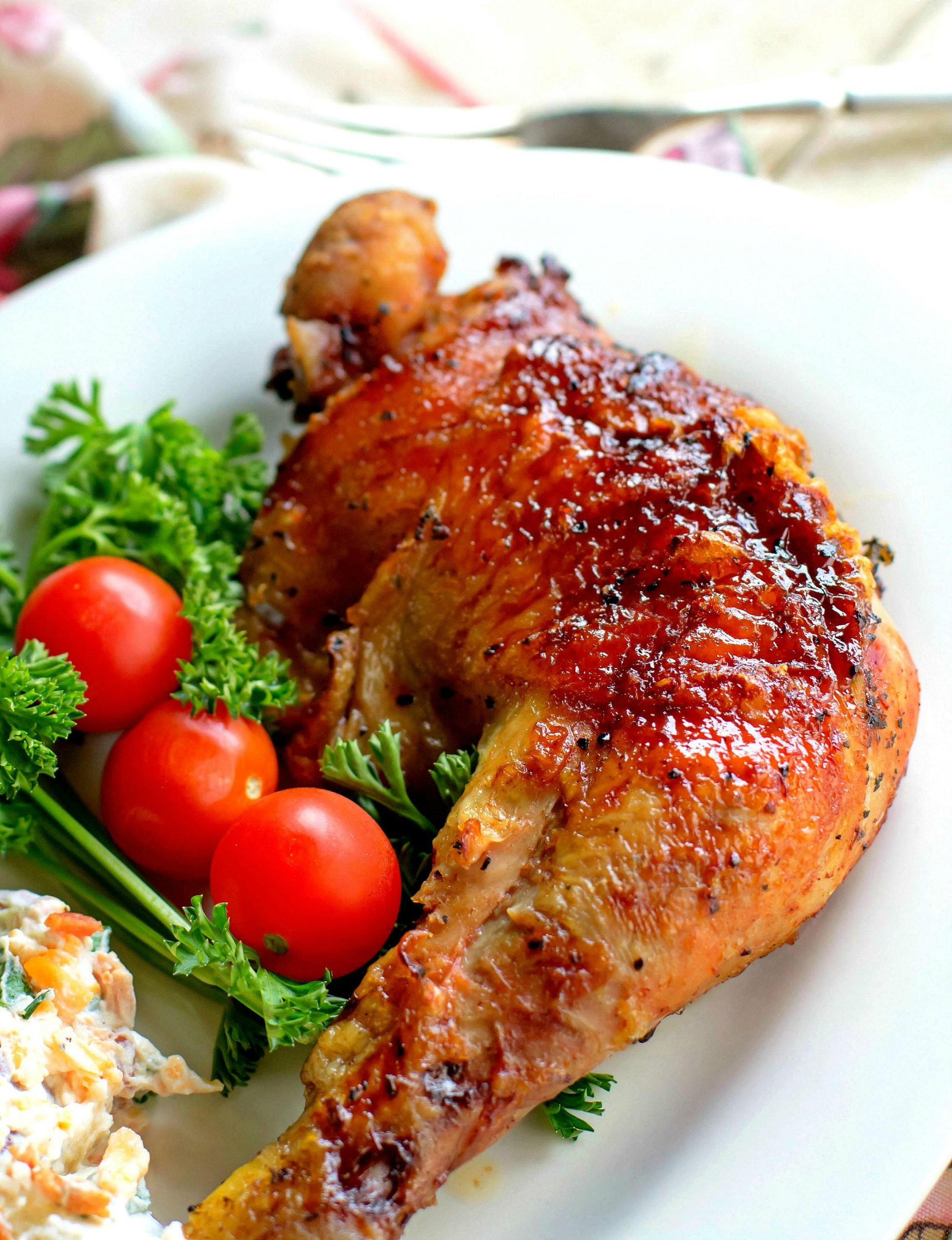 Barbecue Chicken Legs  Barbecued Chicken Leg Quarters Bunny s Warm Oven