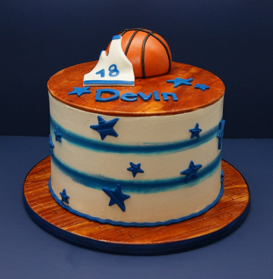 Basketball Birthday Cakes  My Basketball Birthday Cake CakeCentral