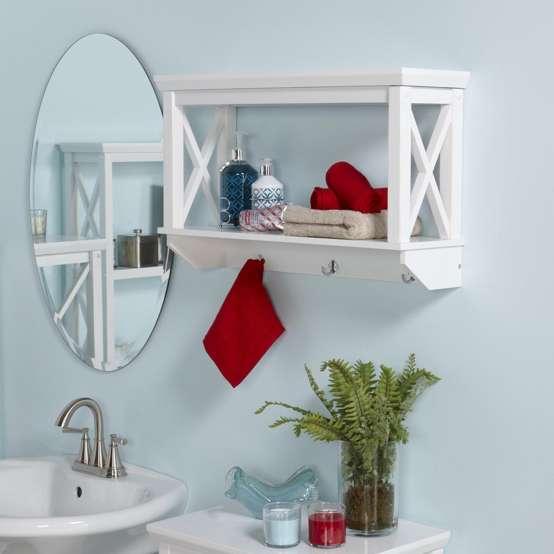 Bathroom Divider Walls  20 Best Wooden Bathroom Shelves Reviews