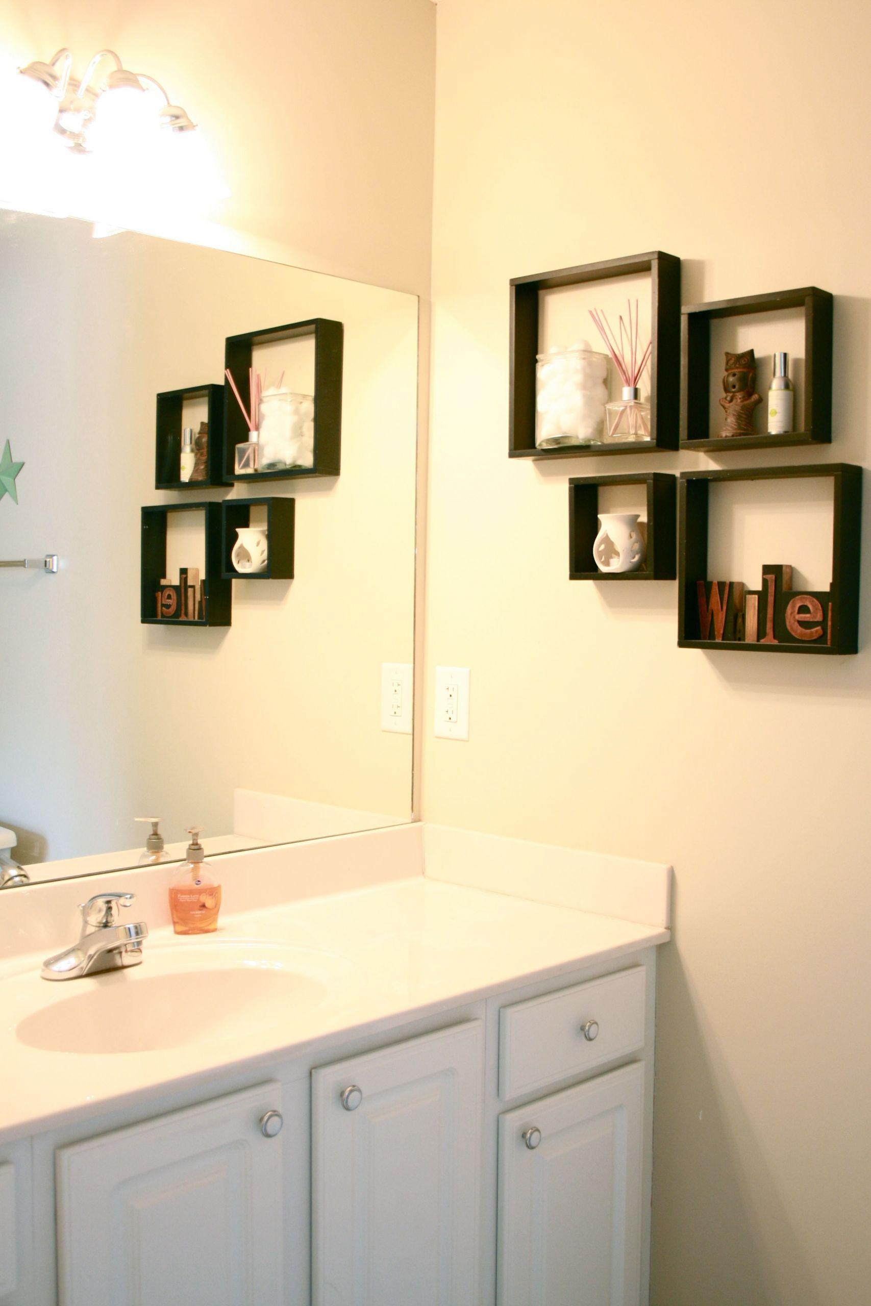 Bathroom Divider Walls  Chic Bathroom Wall Shelving Ideas for Cleaner Bathroom