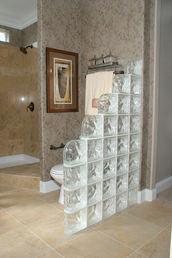 Bathroom Divider Walls  How To Incorporate Glass Blocks Into Your Bathroom Design