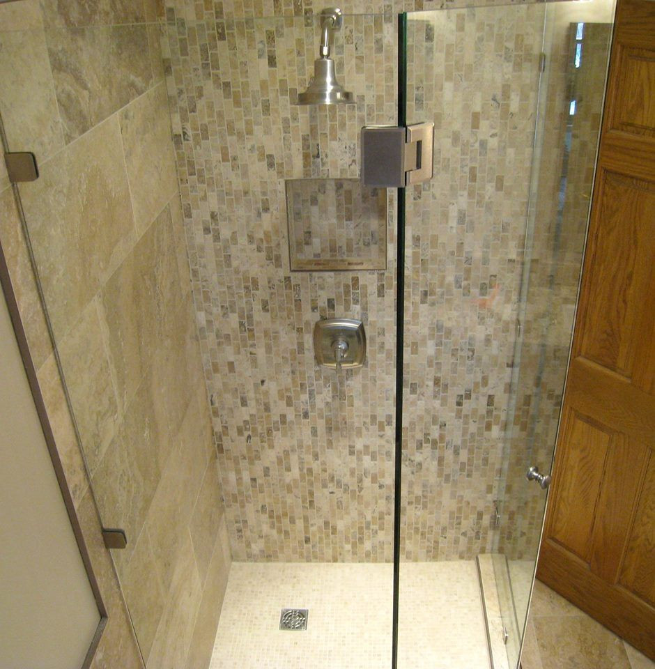 Bathroom Remodel Plymouth Mn  Bath remodel in Plymouth MN Mosaic tile one wall stone