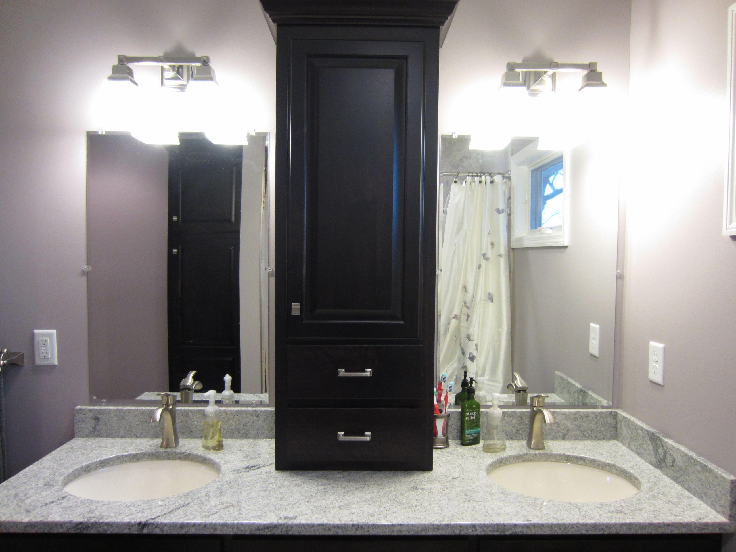 Bathroom Vanity With Linen Cabinet  Valley Custom Cabinets