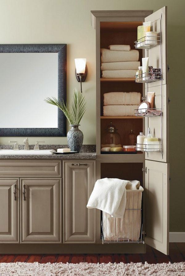 Bathroom Vanity With Linen Cabinet  20 Clever Designs of Bathroom Linen Cabinets