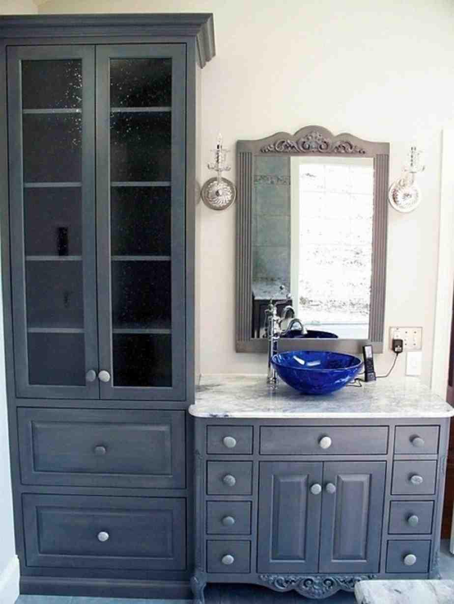 Bathroom Vanity With Linen Cabinet  Bathroom Vanities and Linen Cabinet Sets Home Furniture