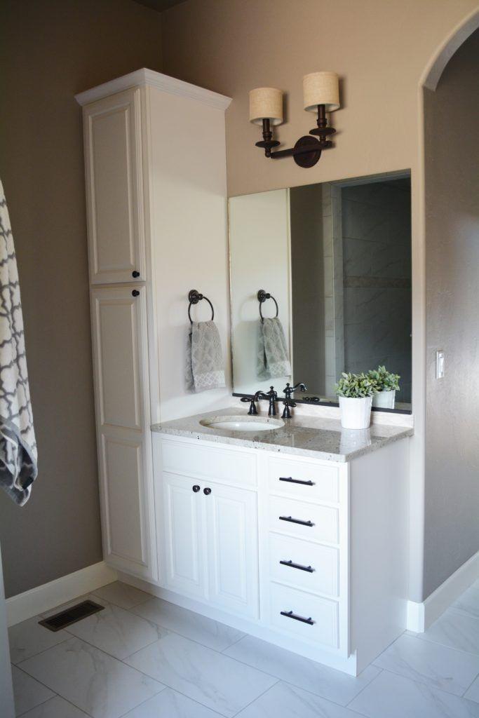 Bathroom Vanity With Linen Cabinet  Best 25 Bathroom vanities ideas on Pinterest