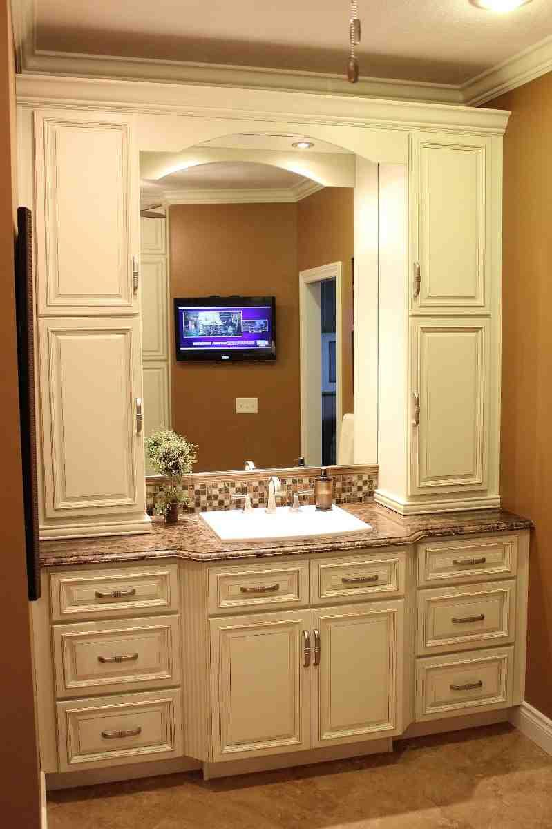 Bathroom Vanity With Linen Cabinet  Bathroom Vanity with Linen Cabinet Home Furniture Design