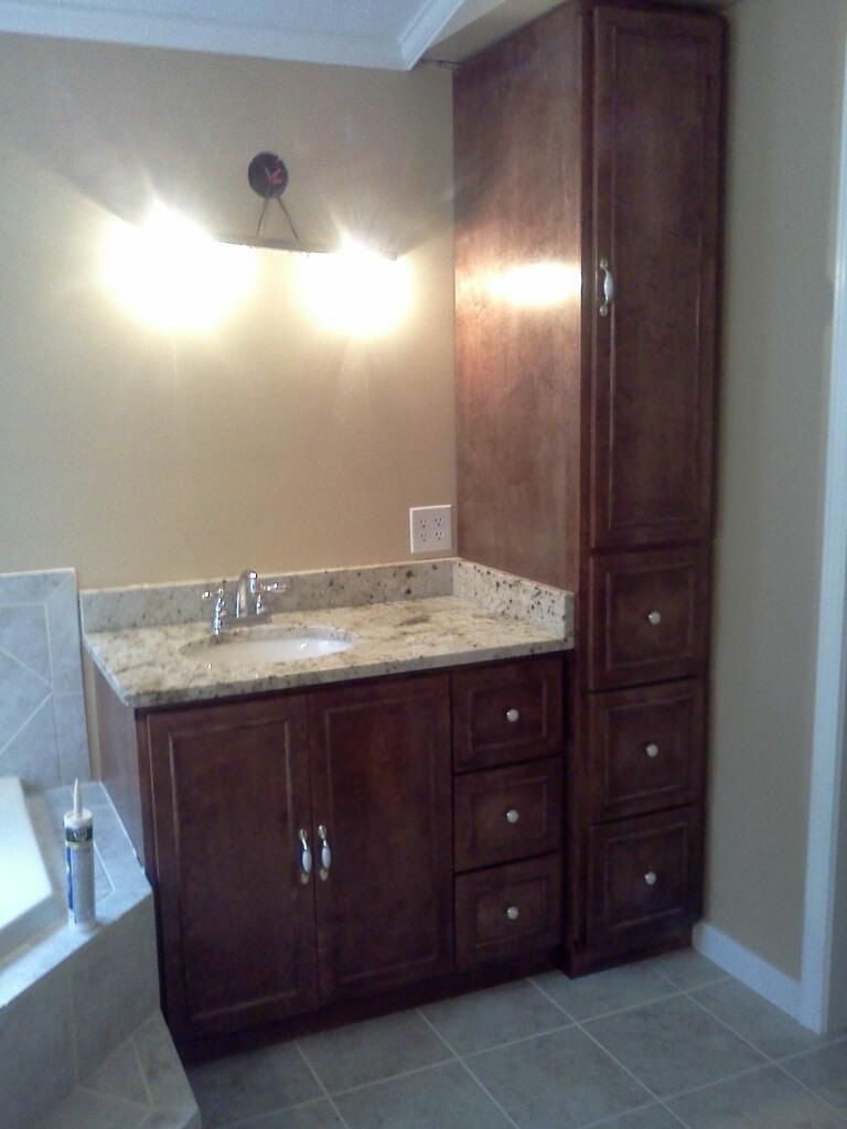 Bathroom Vanity With Linen Cabinet  VANITY AND LINEN CABINET Kids Bathroom Ideas