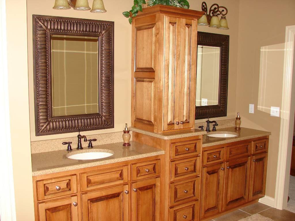 Bathroom Vanity With Linen Cabinet  bathroom vanities with hutches