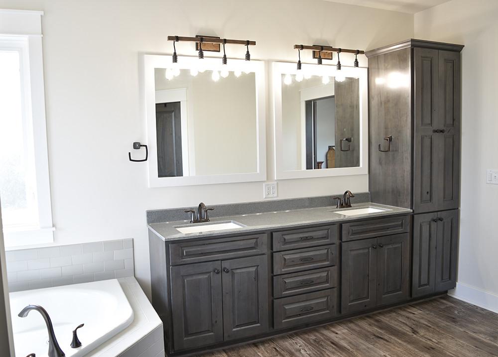 Bathroom Vanity With Linen Cabinet  Vanities & Linen Cabinets Wardcraft Homes