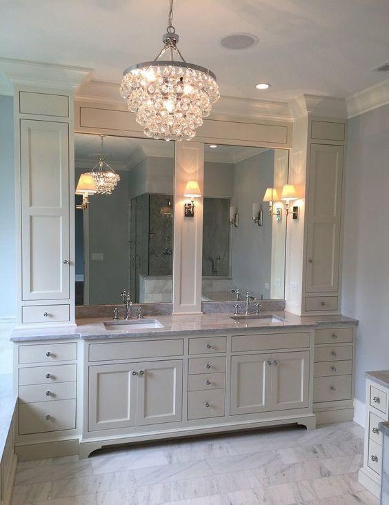 Bathroom Vanity With Linen Cabinet  25 Amazing Double Bathroom Vanities You Need To Try