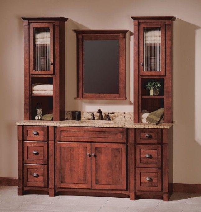 Bathroom Vanity With Linen Cabinet  Bathroom Vanity Linen Cabinet WoodWorking Projects & Plans