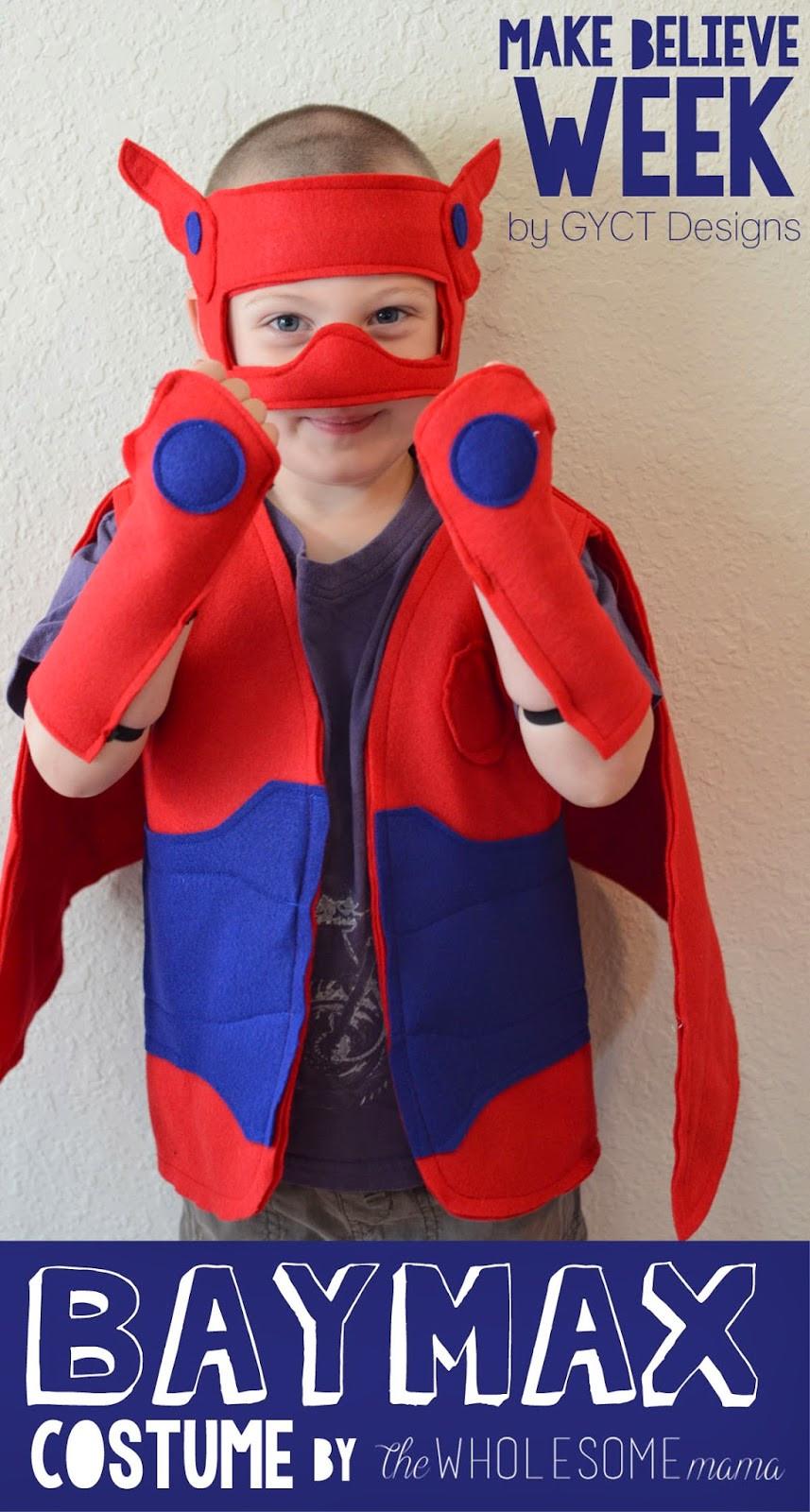 Baymax Costume DIY  The Wholesome Mama Baymax Costume Make Believe Week