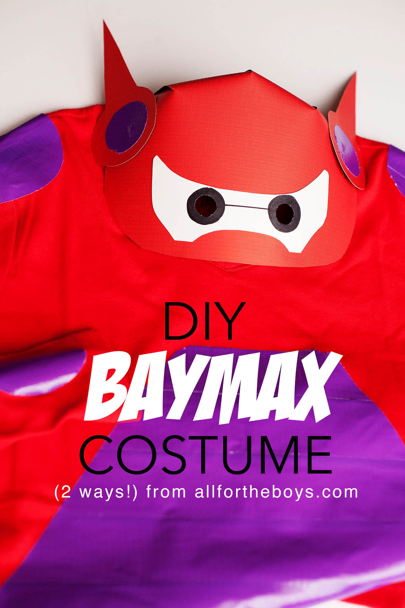 Baymax Costume DIY  DIY Baymax Costume from Big Hero 6 — All for the Boys